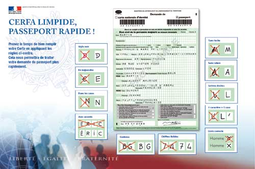 Nouvelles démarches pour l'obtention du passeport